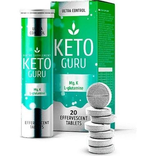 مكمل غذائي من كيتو جورو 20 أقراص keto guru