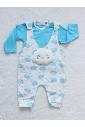 Bulut Desenli Salopet Tufitto Baby Mavi
